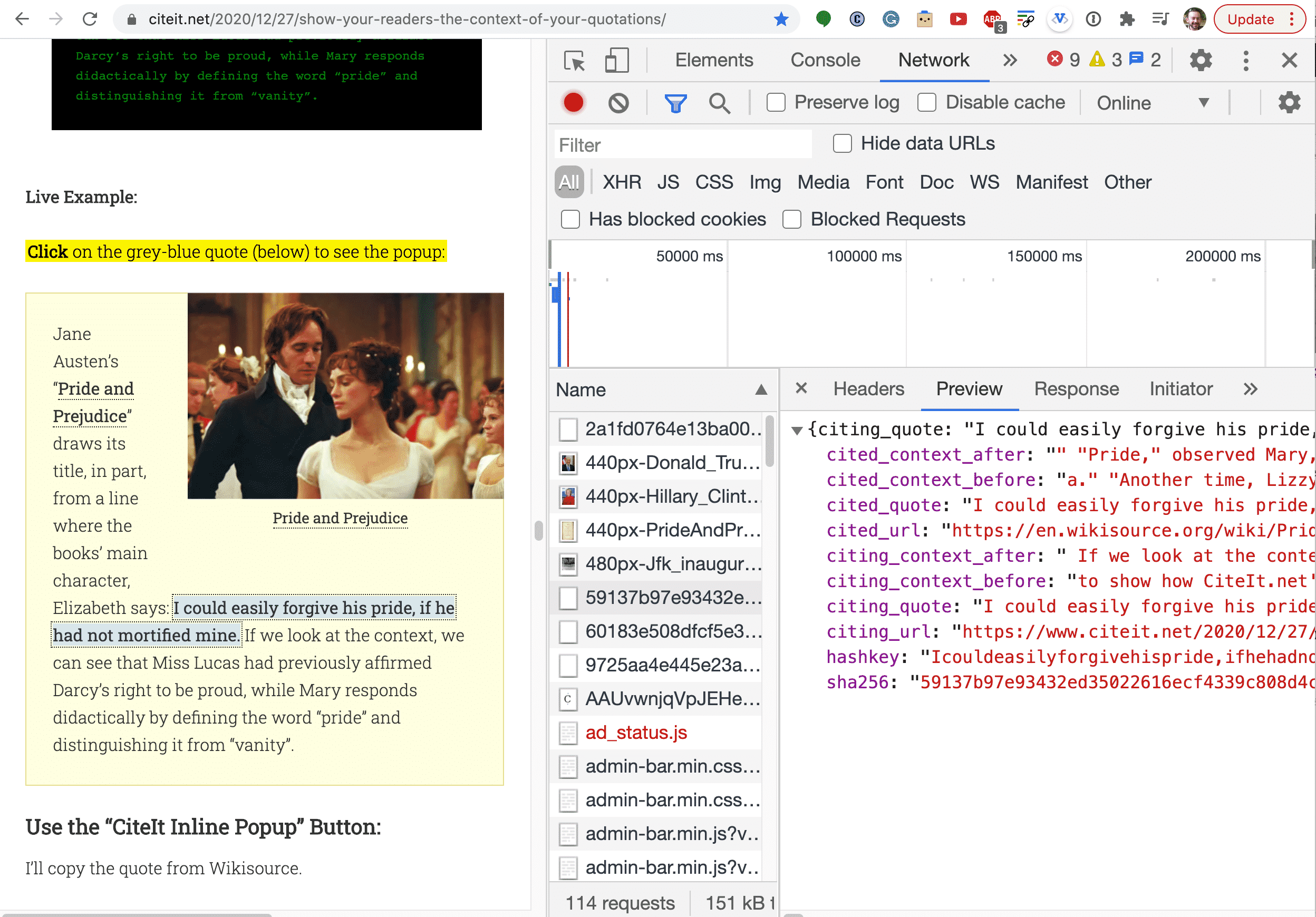 CiteIt Developer Mode